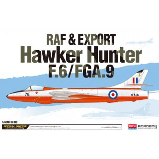 Model Kit letadlo 12312 - RAF & Export Hawker Hunter F.6/FGA.9 (1:48)