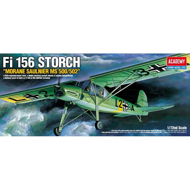 Model Kit letadlo 12459 - FIESELER FI-156 STORCH (1:72)