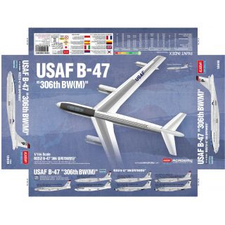 Model Kit letadlo 12618 - USAF B-47 (1:144)