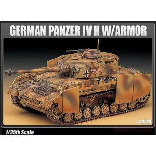 Model Kit tank 13233 - GERMAN PANZER IV H W/ARMOR (1:35)