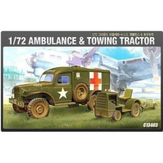 Model Kit military 13403 - US AMBULANCE & TRACTOR (1:72)