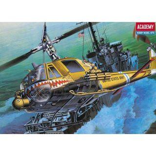 """Model Kit vrtulník 12112 - U.S.ARMY UH-1C """"FROG"""" (1:35)"""