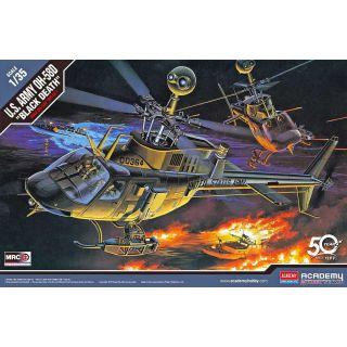 """Model Kit vrtulník 12131 - U.S ARMY OH-58D """"BLACK DEATH"""" (1:35)"""