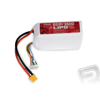 Power Pack LiPo 6/3600 22,2 V 30C XT60