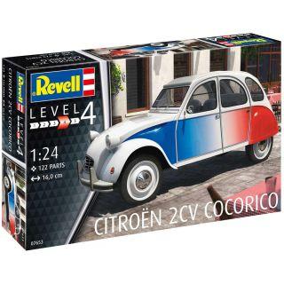 """Plastic ModelKit auto 07653 - Citroen 2 CV """"Cocorico""""  (1:24)"""