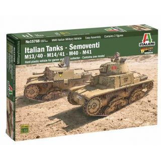 Model Kit military 15768 - Italian Tanks - Semoventi M13/40 - M14/41 - M40 - M41 (1:56)