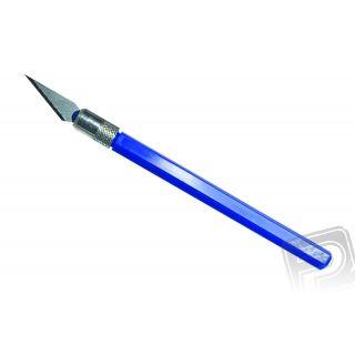 12041 Nůž PRO GRIP NO4, blisrt, modrý, 1 ks.