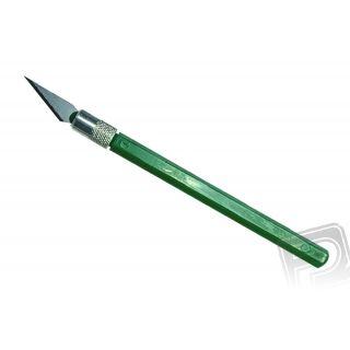 12040 Nůž PRO GRIP NO4, blisrt, zelený, 1 ks.
