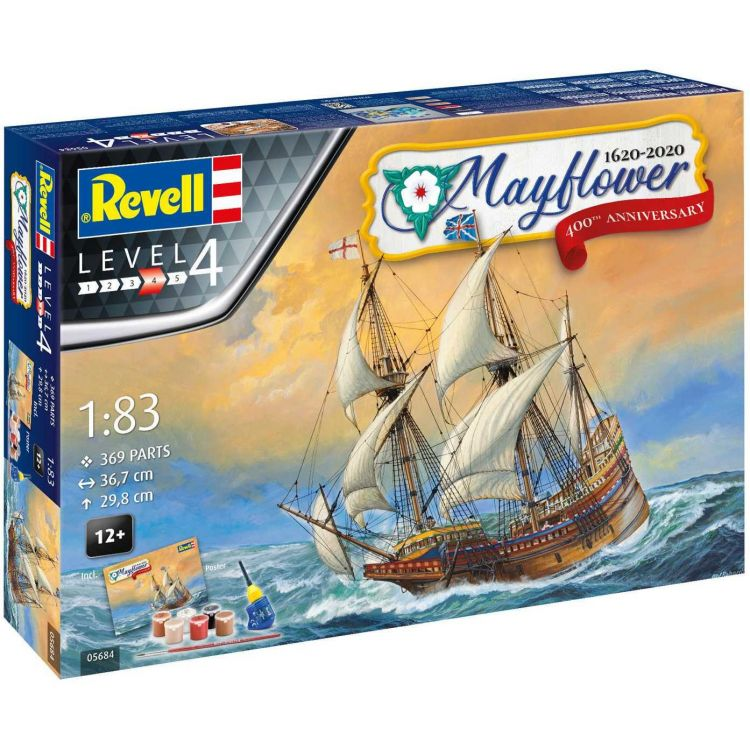 Gift-Set loď 05684 - Mayflower 400th Anniversary (1:83)