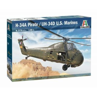 Model Kit vrtulník 2776 - H-34A Pirate /UH-34D U.S. Marines (1:48)