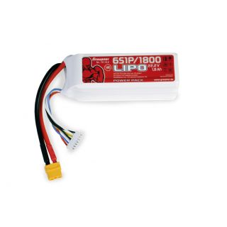 Power Pack LiPo 6/1800 22,2 V 70C XT60EB-4