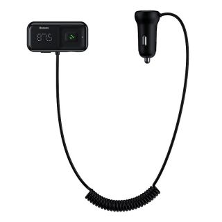 Baseus T typed S-16 wireless MP3 car charger Black (CCTM-E01)