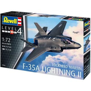 Plastic ModelKit letadlo 03868 - F-35A LightningII (1:72)