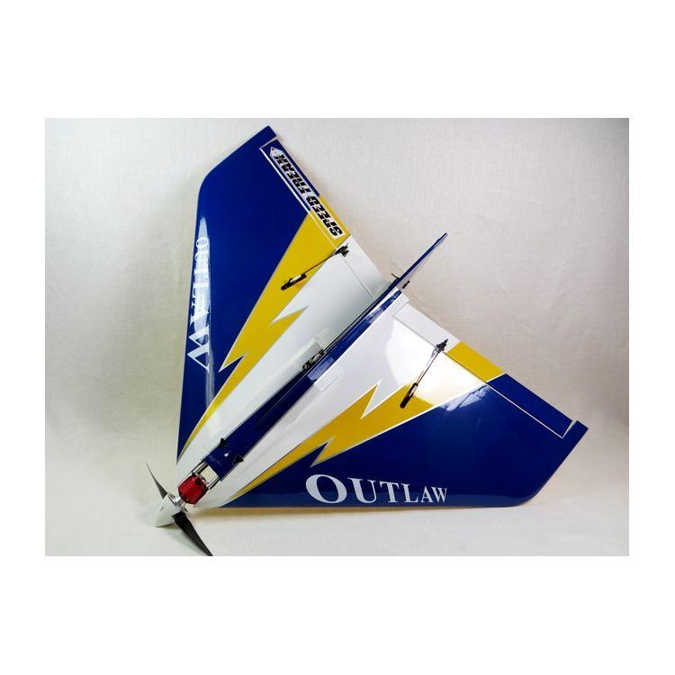 """36"""" E-Outlaw V2 - Modrá/Žlutá 0,94m"""