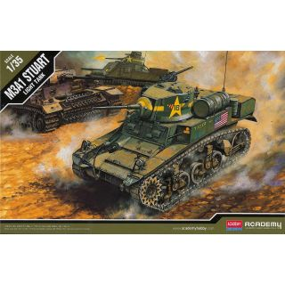 Model Kit tank 13269 - US M3A1 STUART LIGHT TANK (1:35)