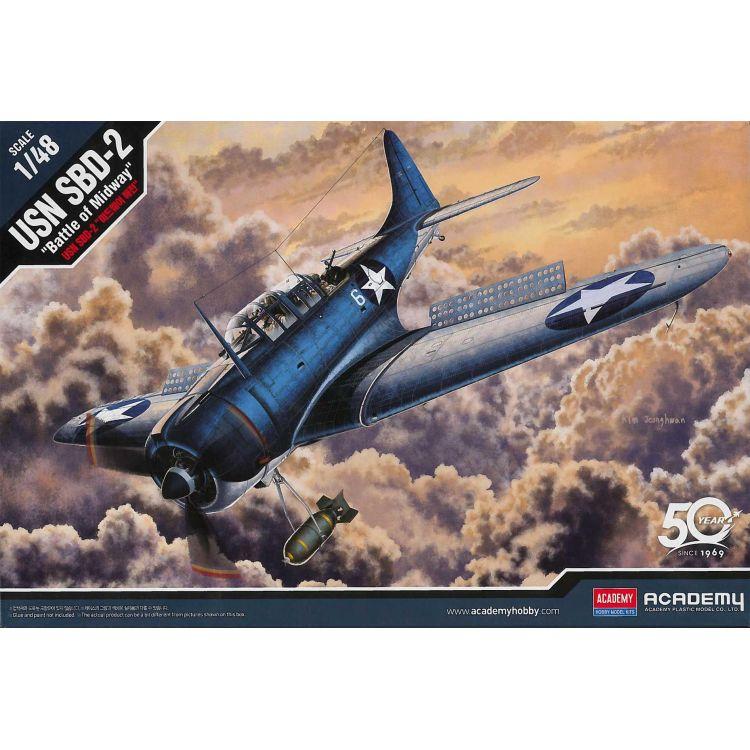 "Model Kit letadlo 12335 - USN SBD-2 ""Midway"" (1:48)"