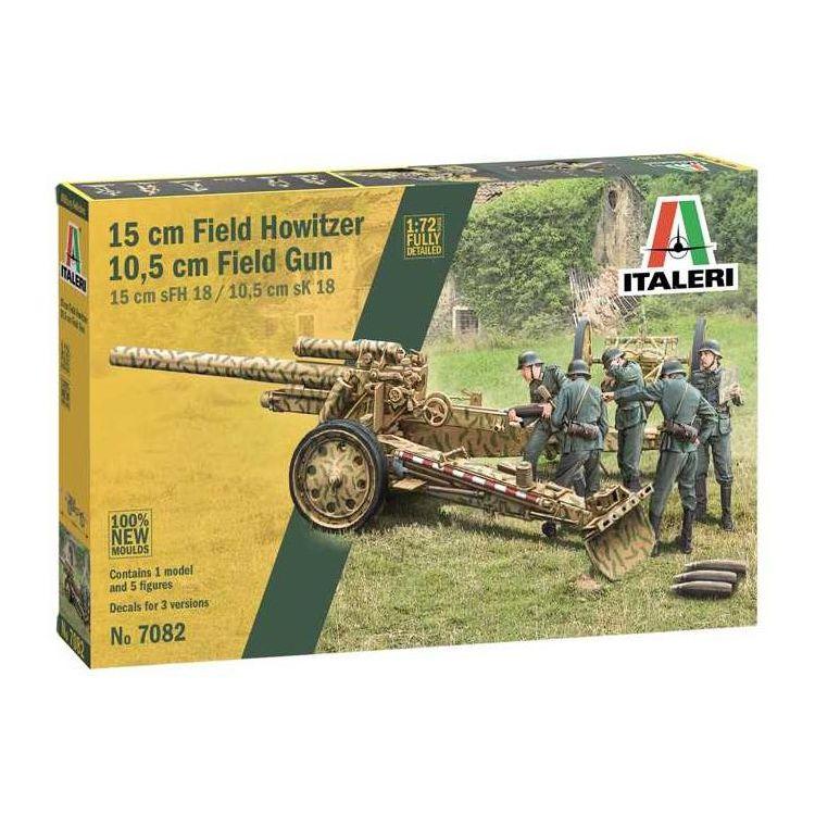 Model Kit military 7082 - 15 cm Field Howitzer / 10,5 cm Field Gun (1:72)