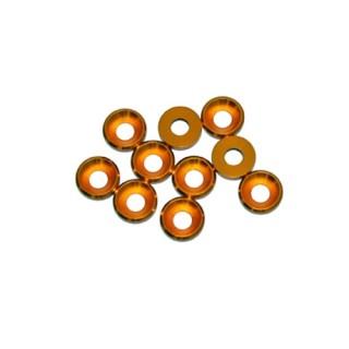 4 mm.alu podložky zlaté (10 ks.)