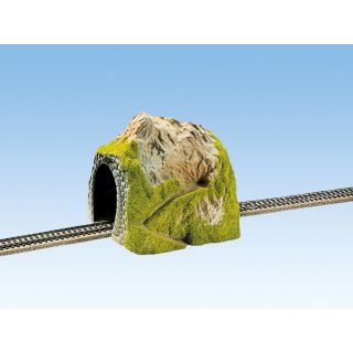 Hora s tunelom, rovný, jednokoľajný 18 x 18 cm NO02120