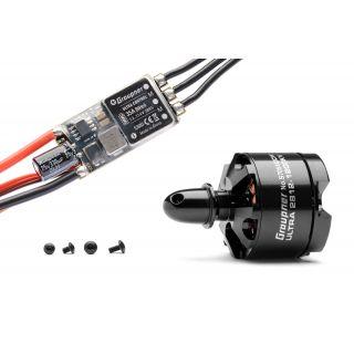 Combo set Telemetrická regualce HOTT 35Amp SBEC + Ultra 2812-1200Kv pravotočivá (CCW)