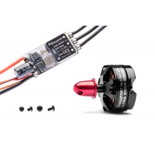 Combo set Telemetrická regulace HOTT 20Amp SBEC + Ultra 2804-2300Kv levotočivý/tlač. (CW)
