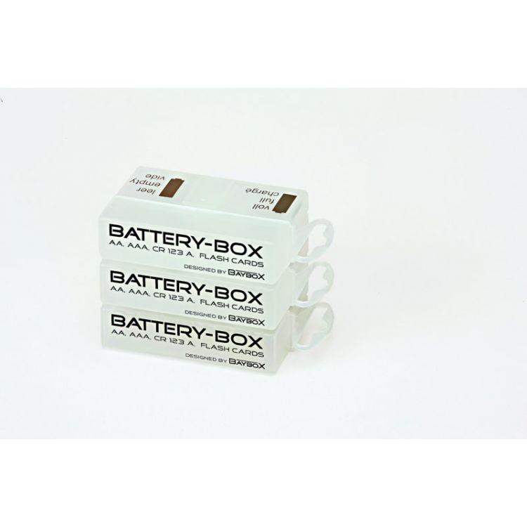Battery BOX pro skladování a přepravu 1-4 AA, AAA baterek, 1 ks. , 1 BOX.