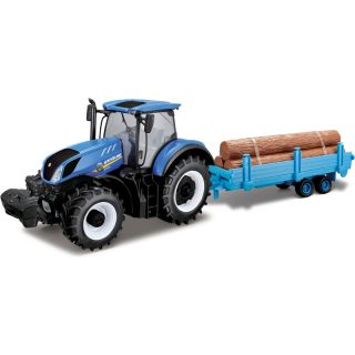 Bburago New Holland T7.315 1:32 se dřevem