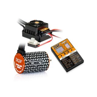 COMBO BRUSHLESS 50Amp WP s 4P 3652SL 4600Kv motorem + programovací karta