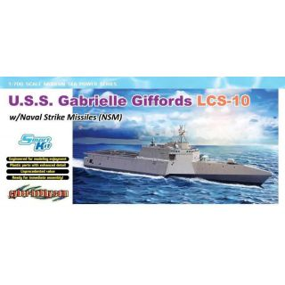 Model Kit loď 7147 - U.S.S. Gabrielle Giffords LCS-10 w/NSM (1:700)