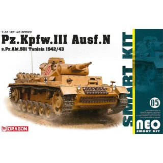 Model Kit military 6956 - Pz.Kpfw.III Ausf.N s.Pz.Abt.501 Tunisia 1942/43 (Neo Smart Kit) (1:35)