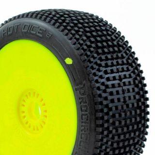 HOT DICE V2 BUGGY C2 (SOFT) nalepené gumy, žluté disky (2 ks.)