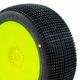 ADDICTIVE V2 BUGGY C2 (SOFT) nalepené gumy, žluté disky (2 ks.)