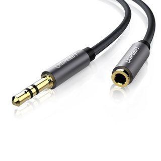 UGREEN AV118 AUX jack audio extender 3.5 mm 5m (black)