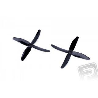 4-listá vrtuľa 5x4 CW / CCW čierna (1 pár)