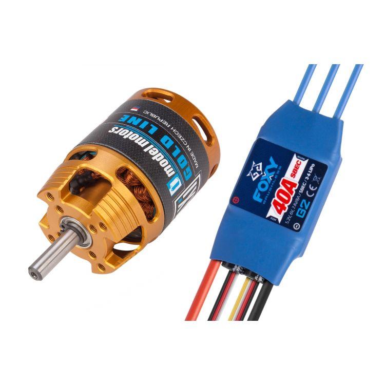 Combo set AXI 2820/12 V2 LONG + FOXY G2 40A regulátor