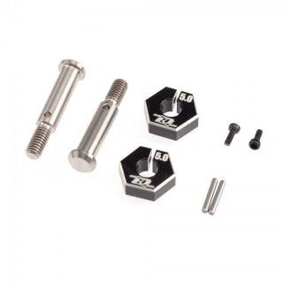 B6.2 titanové přední osy včetně 5.0mm unašeče kol