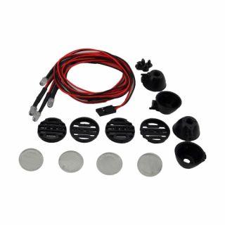 Kulaté přídavné LED světla, černá (4 ks.)