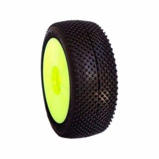 1/8 TERMINATOR COMPETITION OFF ROAD gumy nalepené gumy, HYPER SOFT směs, žluté disky, 2ks.