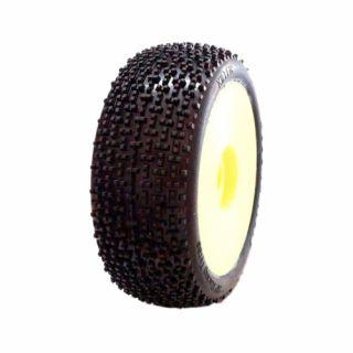 1/8 KILLER COMPETITION OFF ROAD gumy nalepené gumy, HYPER SOFT směs, žluté disky, 2ks.