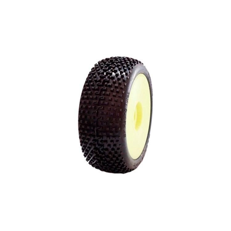 1/8 DEMOLITION COMPETITION OFF ROAD gumy nalepené gumy, EX.SUP.S. směs, žluté disky, 2ks.