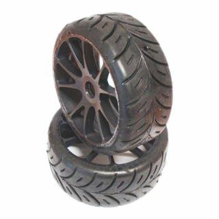1/8 GT SPORT pro mokré podmínky nalepené gumy, šedé disky, 2ks.