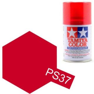 Tamiya Color PS-37 Translucent Red Polycarbonate Spray 100 ml