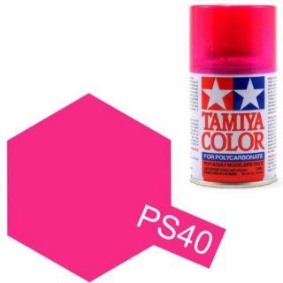 Tamiya Color PS-40 Translucent Pink Polycarbonate Spray 100ml