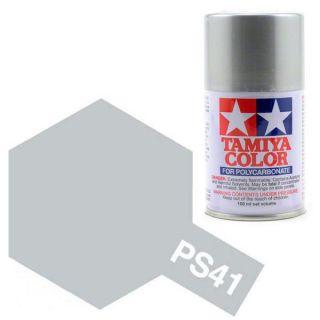 Tamiya Color PS-41 Bright Silver Polycarbonate Spray 100ml