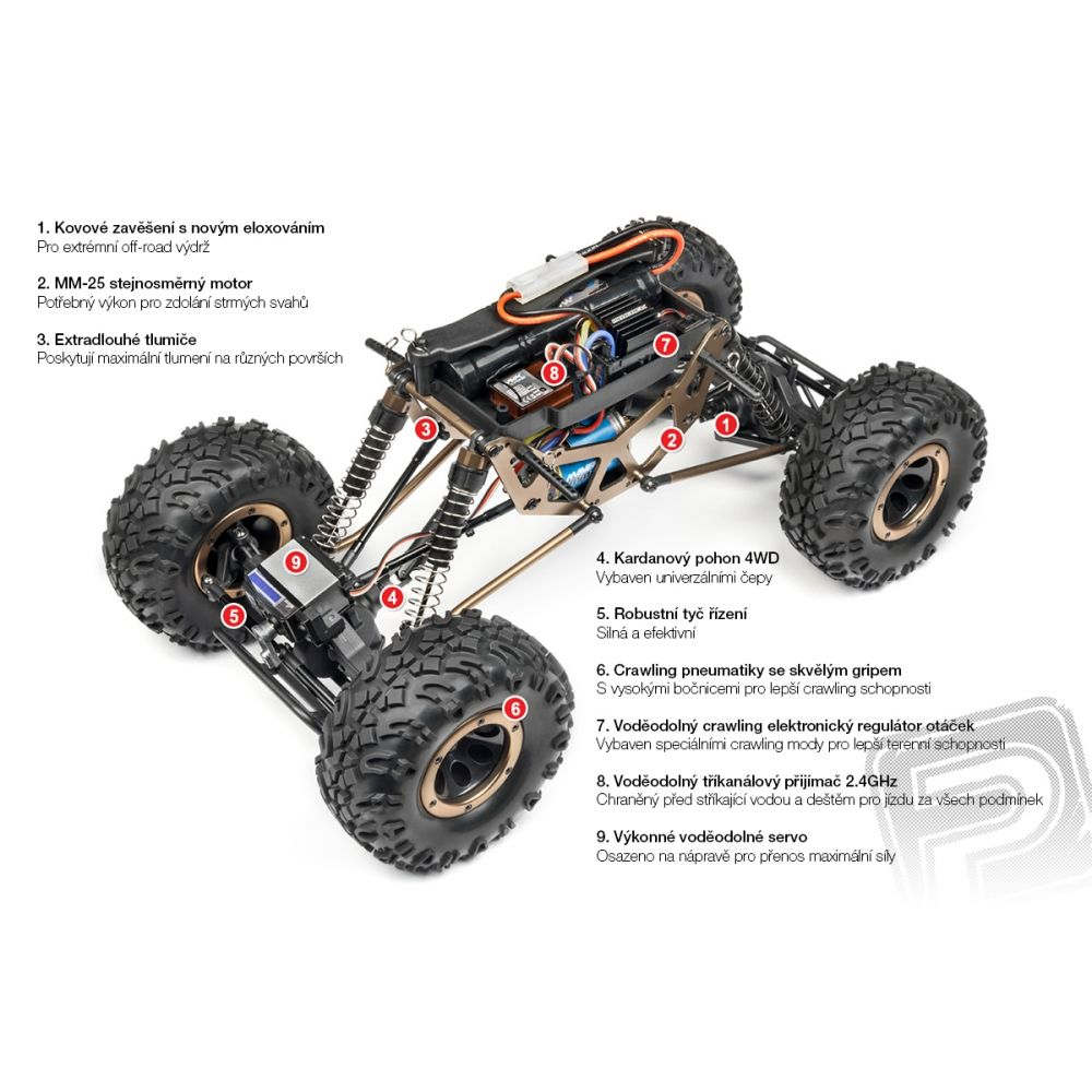 scout rock crawler rtr s 2 4ghz rc s pravou verzia 2017. Black Bedroom Furniture Sets. Home Design Ideas