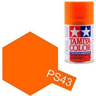Tamiya Color PS-43 Translucent Orange Polycarbonate Spray 100ml