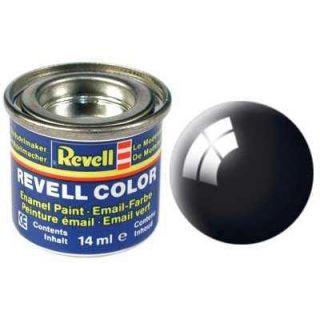 Farba Revell emailová - 32107: leská čierna (black gloss)