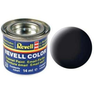 Farba Revell emailová - 32108: matná čierna (black mat)