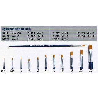 Brush Synthetic Flat  51221 - plochý syntetický štětec (velikost 000)