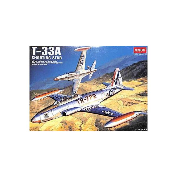Model Kit letadlo 12284 - T-33A SHOOTINGSTAR (1:48)